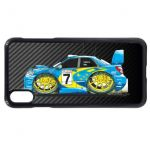 Koolart Carbon Fiber Fibre & Scooby Impreza WRX STi Car Image Mobile Phone Case Fits iPhone